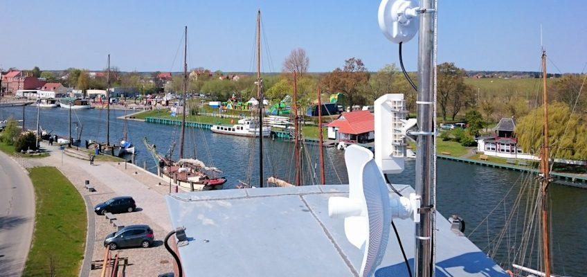 Freifunk-Netz am Museumshafen ausgebaut